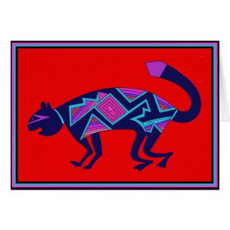 Southwest Mimbres Cat Card