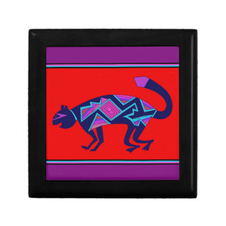 Southwest Mimbres Cat Gift Box