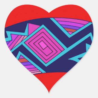 Southwest Mimbres Cat Heart Sticker