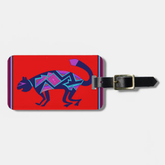 Southwest Mimbres Cat Luggage Tag