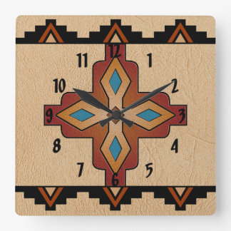 Southwest Motif Square Wall Clock
