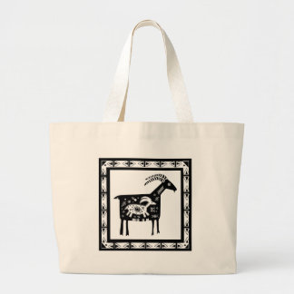 Southwest Mt. Mama Goat with Baby Large Tote Bag