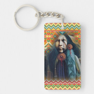 Southwest Native American Brave Keychain