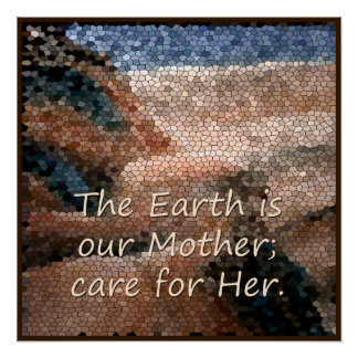 Southwest Native American Mother Earth Poster