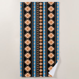 Southwest navajo aztec pattern beach towel