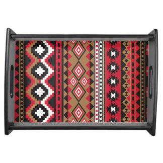 Southwest navajo aztec pattern serving tray
