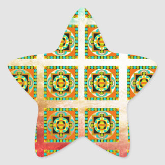 SOUTHWEST PATTERN STAR STICKER