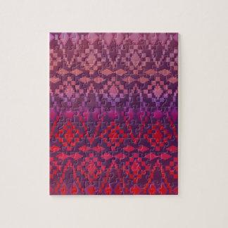 Southwest Pink / Purple Tribal Jigsaw Puzzle