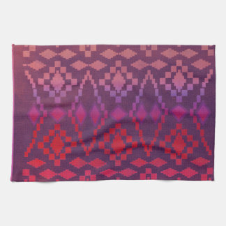 Southwest Pink / Purple Tribal Kitchen Towels