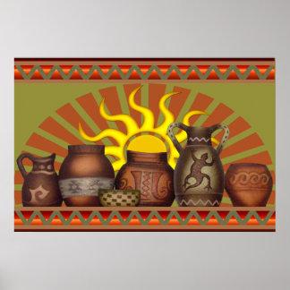 Southwest Pottery Poster