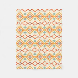 Southwest Print Blanket Orange and Ivory