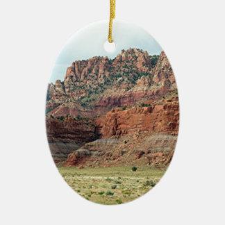 Southwest Rocks Scenery, Southern Utah, USA Ceramic Oval Ornament