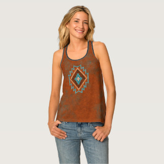 Southwest Rusted Diamond Tank Top