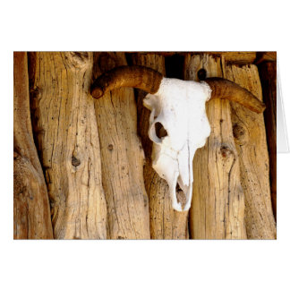 Southwest Sun Bleached Cow Skull, Blank Inside Card