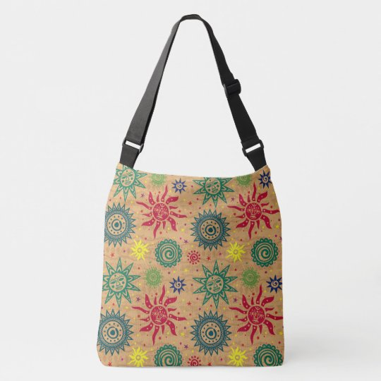 Southwest Sun Pattern Print All Over Bag