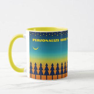 Southwest Sunset Moon Personalized Mug