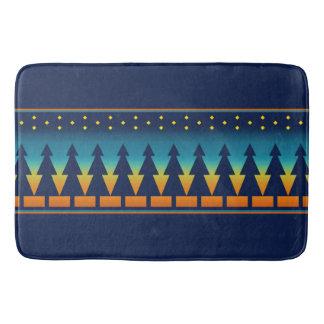 Southwest Sunset Pines Blue Bath Mat