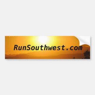 Southwest Sunset Running Sticker Bumper Sticker