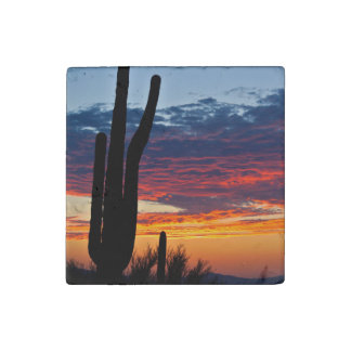 Southwest Sunset Stone Magnet Stone Magnets