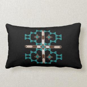 Southwest Symmetry Cotton Throw Lumbar Pillow