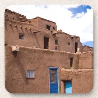 Southwest Taos Adobe Pueblo House New Mexico Coasters