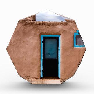 Southwest Taos Adobe Pueblo House Turquoise Door