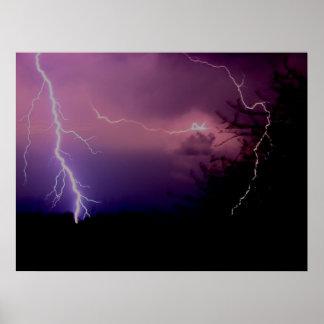 Southwest Texas Lightning Storm Poster
