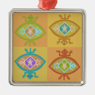 Southwest Tortuga Family Metal Ornament