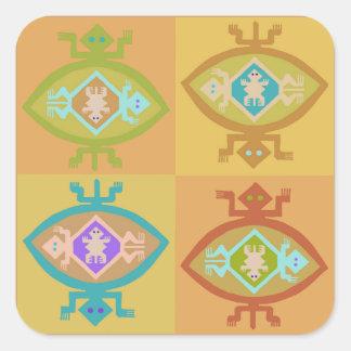 Southwest Tortuga Family Square Sticker