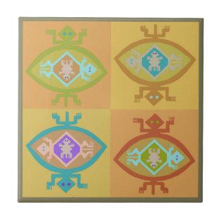 Southwest Tortuga Family Tile
