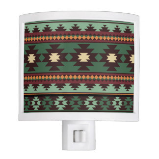 Southwest tribal green brown nite light