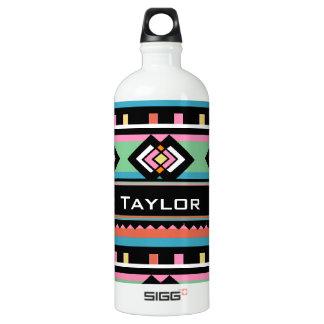 Southwest Tribal Green Geometric Water Bottle