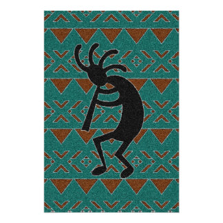 Southwest Tribal Kokopelli Poster