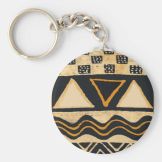 Southwest Tribal Native American Design Basic Round Button Keychain