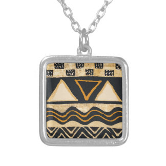 Southwest Tribal Native American Design Silver Plated Necklace