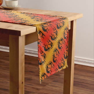 Southwest Tribal Pattern Kokopelli Long Table Runner