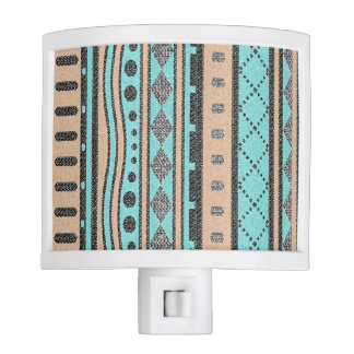 Southwest Tribal Pattern Peach And Turquoise Night Lights