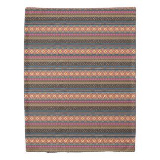 Southwest Tribal Stripe Duvet Earthtones Duvet Cover