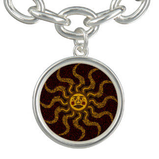 Southwest Tribal Sun Face Bracelet