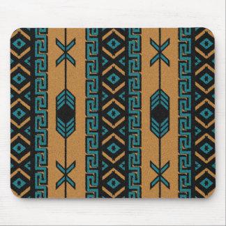 Southwest Turquoise  Aztec Pattern Mouse Pad