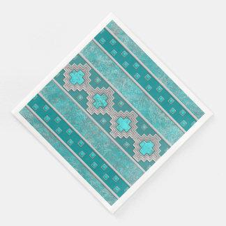 Southwest Turquoise Paper Dinner Napkin