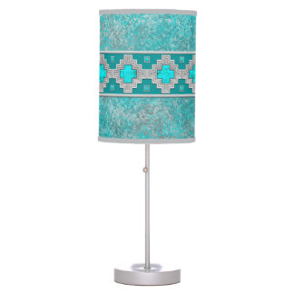 Southwest Turquoise Table Lamp