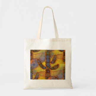 Southwestern Arizona Saguaro Cactus Mosaic Design Tote Bag