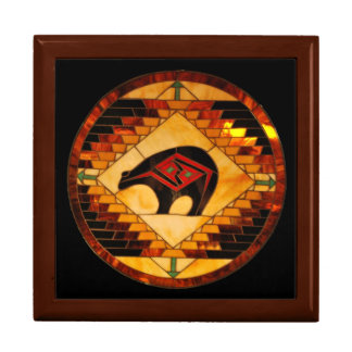 Southwestern Bear Stained Glass Design Gift Box