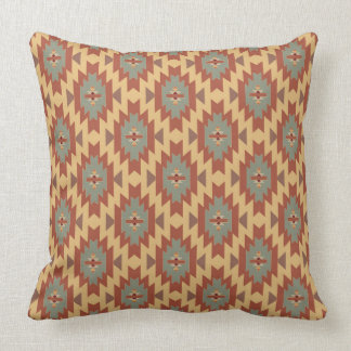 Southwestern Beauty   Aqua and Gold Throw Pillow