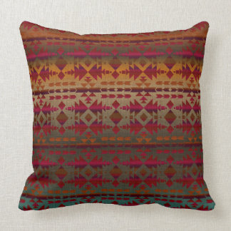 Southwestern Beauty   Tribal Ombre Style Throw Pillow