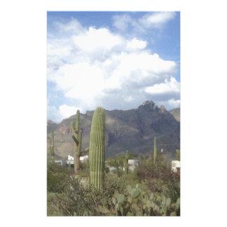 southwestern desert foothills stationery