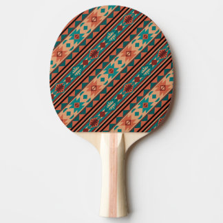 Southwestern Design Turquoise Terracotta Ping Pong Paddle