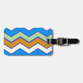 Southwestern Designer Majesty Zigzags Luggage Tag