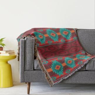 southwestern ethnic navaio tribal pattern throw blanket